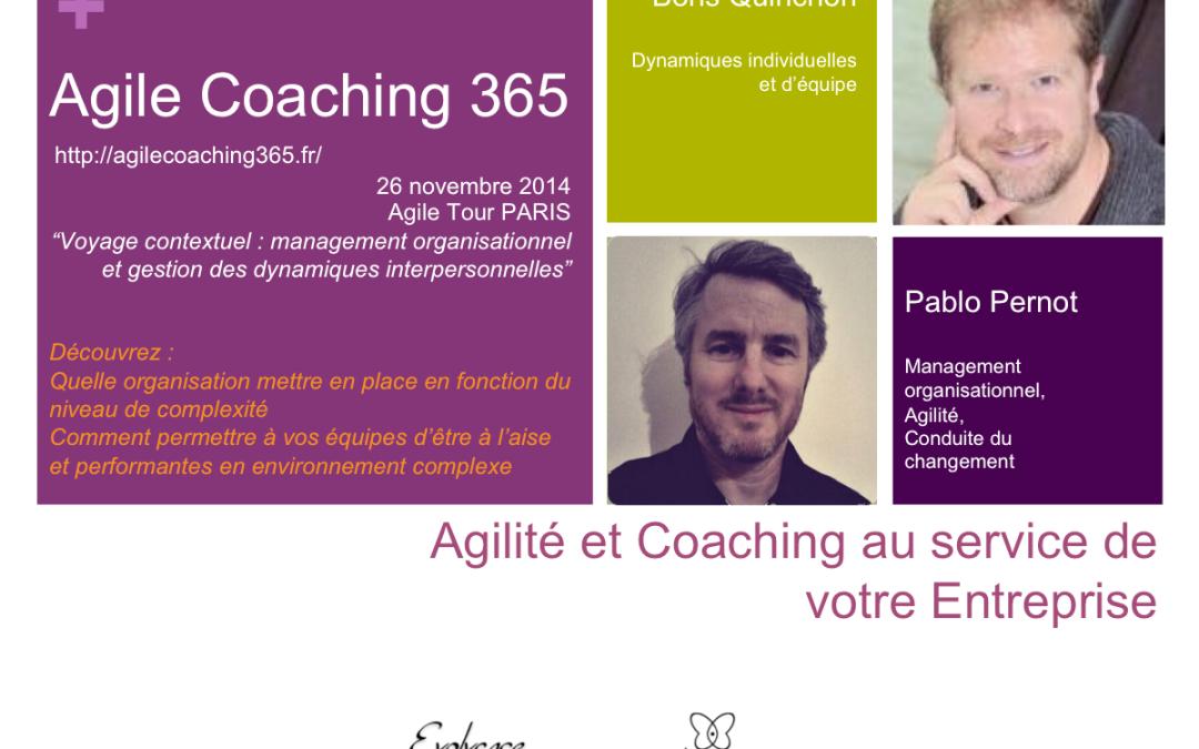 Agile Coaching 365 : et maintenant Paris le 26 novembre !